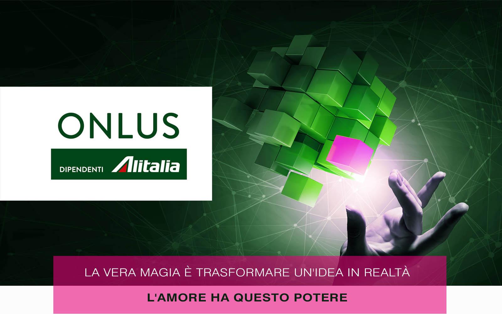 home page area solidarietà onlus alitalia